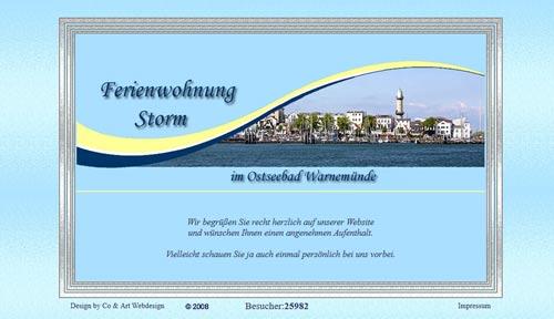 Warnemuender Ferienwohnung - ältere Referenz, erstell 2007/08